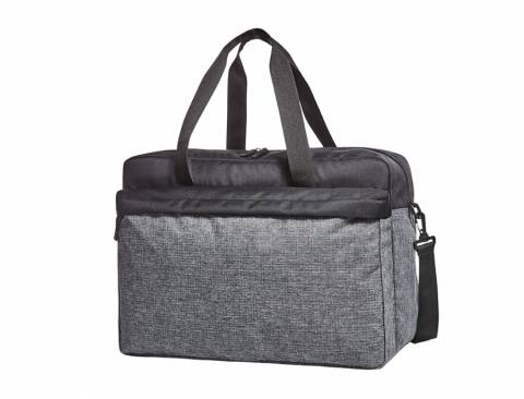 sport/travel bag ELEGANCE black-grey sprinkle 225378